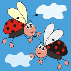 Printed roller blinds Ladybugs ladybirds