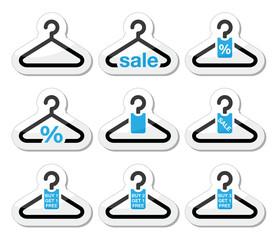 Sale, buy 1 get 1 free  hanger icons set