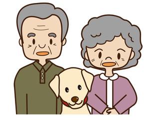 老夫婦とペット
