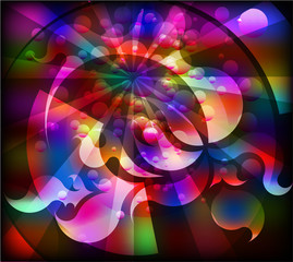 Abstract stained-glass design. Vector.