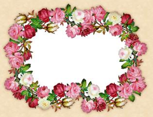 sfondo floreale retro con pois