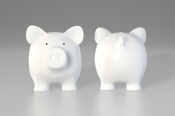 Piggy bank - front and back