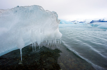 Melting ice in Jokulsarlon