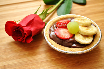 Rose with Dessert