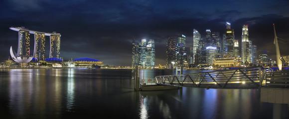 Singapore Skyline by the Esplanade Panorama