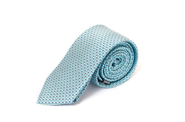light Blue tie isolated on white