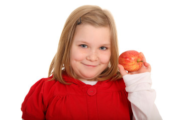 Apfel präsentieren