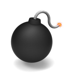 3D model of black bomb was fused