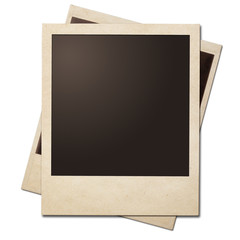 Vintage instant photo polaroid frames isolated. Clipping path wi