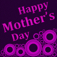 Mothers Day - Purple with Pink Circles