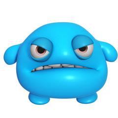 Poster Sweet Monsters 3d cartoon cute blue monster