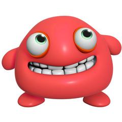 Wall Murals Sweet Monsters 3d cartoon cute red monster
