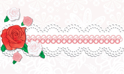 roses on a pink background