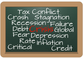crisis chalkboard