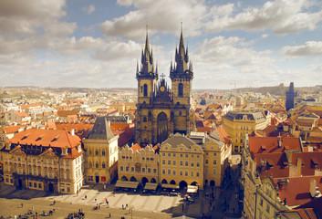 Wall Murals Prague view of the church of Maria Tyn