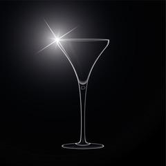 Martini glass. cocktail. Vector.
