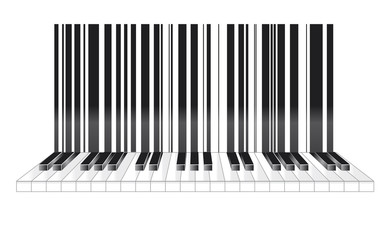 Barcode in musical style