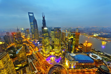 modern building of the lujiazui financial centre in shanghai