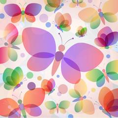 Colorful butterflies summer pattern