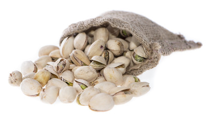 Pistachios in a Bag (on white)