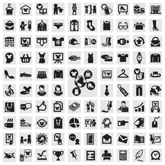 Set of icons. clothing