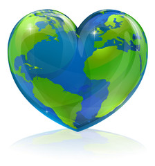 Love the world heart concept