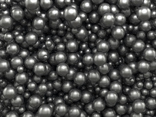 abstract black caviar balls background