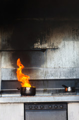 Fire in the kitchen