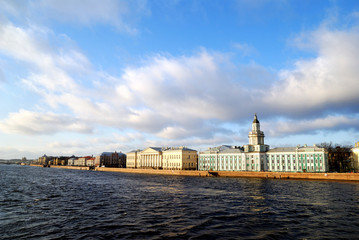 Panoramic view on old part of Saint Petersburg