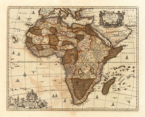 Wall Mural - Africa vintage map