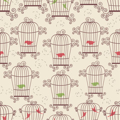 Recess Fitting Birds in cages Birds in cages