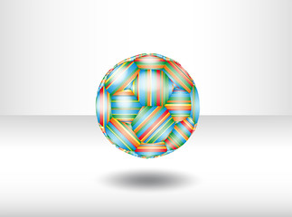 Isolated soccer ball. Illustration 10 version