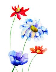 Original flowers illustration