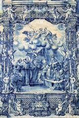 Azulejos on Capela das Almas in Porto, Portugal