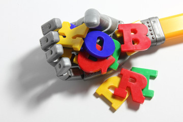 Robot Hand and Alphabets