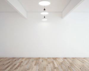 Obraz parquet in room - fototapety do salonu