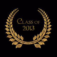 gold laurel for 2013 graduation