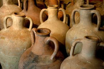 Fototapeta ancient Greek clay amphora obraz