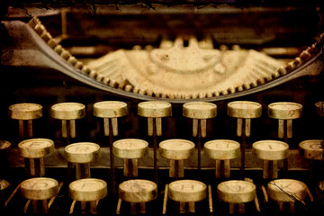 Fotobehang Vintage Poster Retroplakat - Mechanische Schreibmaschine