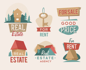 Retro real estate emblem