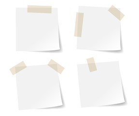 White stick note paper