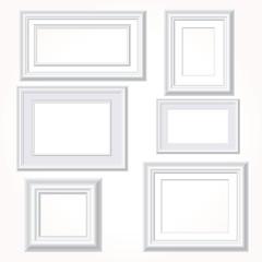 white wall frames