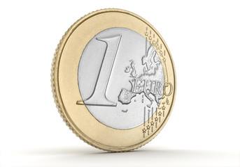 Ein Euro Münze, Konzept Geld