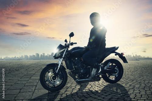 Fototapete Motorbike Driver