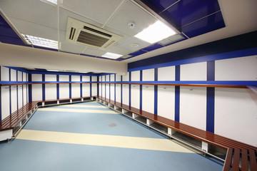 Locker room in Stadium