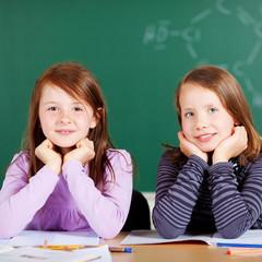 zwei schülerinnen im unterricht