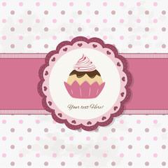 cake design - cupcake background