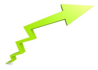 Growth arrow in green