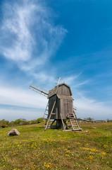 Windmühle bei Gettlinge, Insel Öland, Schweden