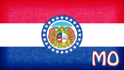 Linen flag of the US state of Missouri